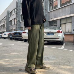 Phoneus - Plain Straight Leg Pants