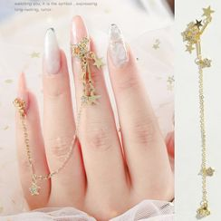 WGOMM - Chain Rhinestone Nail Art Decoration