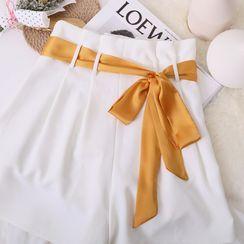MISHORE - 纯色窄围巾 / 腰带 / 发带