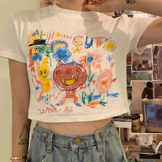Laurinda - Couple Matching Printed Short-Sleeve T-Shirt