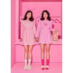 chuu - 'Barbie Room' Heart Babydoll Pajama Dress