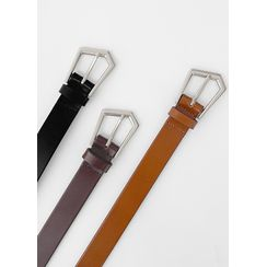 JOGUNSHOP - Pentagon-Buckle Faux-Leather Belt