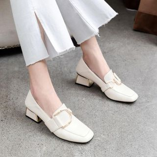 JY Shoes - Chunky-Heel Loafers