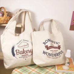 Chocolate Cosmos - 字母帆布手提袋