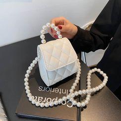 Cipres - 仿珍珠带翻盖斜挎包