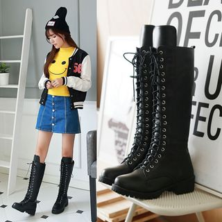 Cinnabelle - Lace-Up Tall Boots