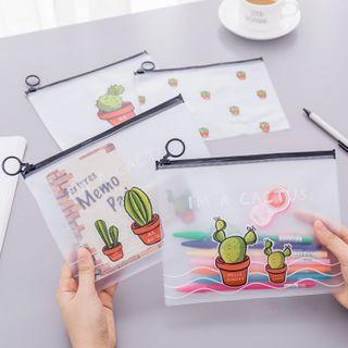 Dukson - Cactus Print Translucent Pencil Case