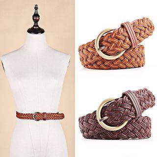 Leatha - Woven Faux Leather Belt
