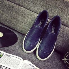 Solejoy - Faux-Leather Slip-Ons / Canvas Slip-Ons