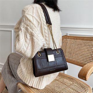 Miloes - Croc Grain Handbag