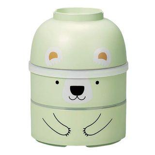 Hakoya - Hakoya Large Kokeshi Lunch Box (Bear / Green)
