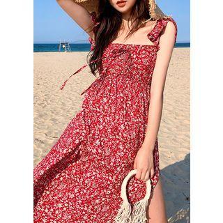 chuu - Floral Maxi Empire Sundress