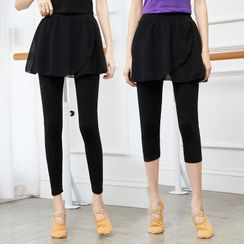 Winkplay(ウィンクプレイ) - Dance Inset Skirt Leggings