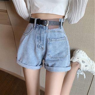 IndiGirl - Washed Denim Shorts