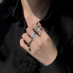 Show Mind - Retro Alloy Open Rings