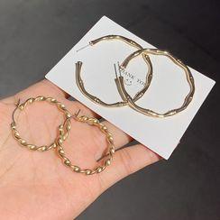 Gold Beam - 扭擰合金圈環耳環