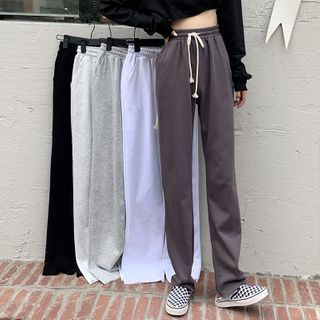 Moon City - Plaid Wide-Leg Pants