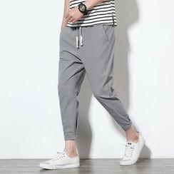 Ferdan - Drawstring Skinny Pants
