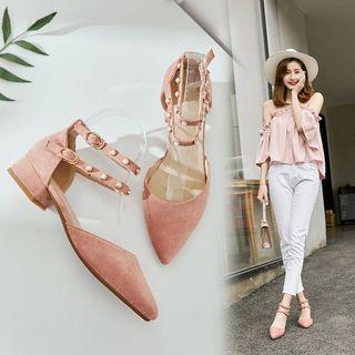 Kireina - Pointed Low Heel Sandals
