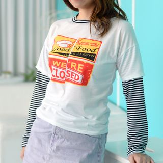 Melon Juice - Mock Two-Piece Long-Sleeved T-Shirt