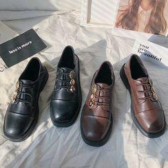 Shoeland - Platform Buckled Loafers