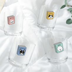 BABOSARANG - 'Reading Pet' Illustrated Drinking Glass