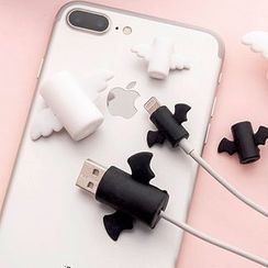 Fun House - Angel / Devil Wings Silicone Mobile Charging Cable Protector