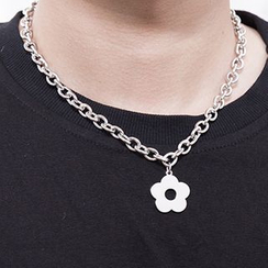 Tinseltown - Alloy Flower Pendant Necklace