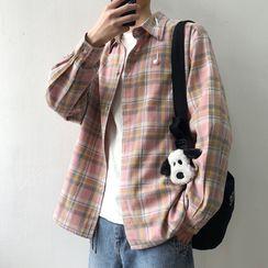DuckleBeam - Plaid Long-Sleeved Shirt