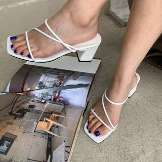LIPHOP - Strappy Block-Heel Sandals