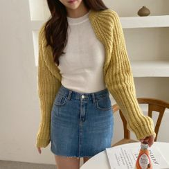 PPGIRL - Open-Front Cropped Cardigan