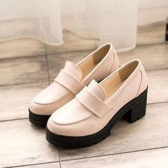 Bolitin - 粗跟厚底乐福鞋