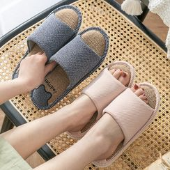 Furana - Letter Embroidered Slippers