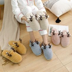 Cool Cocoon - Deer Horn Shearling Home Slippers