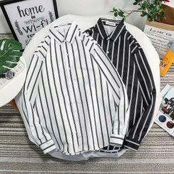 YAVER - Long-Sleeve Striped Shirt
