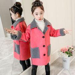 PAM - 小童內抓毛鈕扣大衣