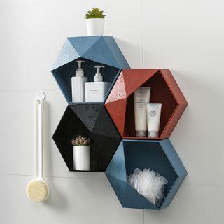 Home Simply - 六角黏牆收納架
