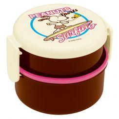 Skater - SNOOPY 圆形食物盒 500ml (内附叉) (运动/滑浪)