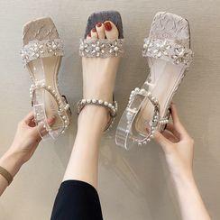 NODO - Faux Pearl Sandals