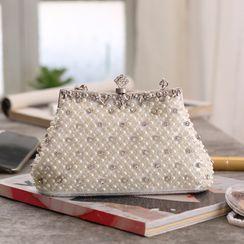 Moonflower - Faux Pearl Crossbody Bag