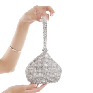 Moonflower - Rhinestone Hand Bag