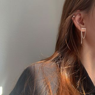 Honne - 鏈條純銀耳飾