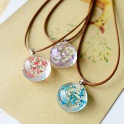 Nisen - Dried Flower Pendant Necklace