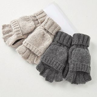 Alaysia - Couple Matching Knit Half Finger Gloves