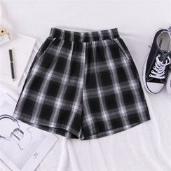 DiBi - Plaid Wide-Leg Shorts