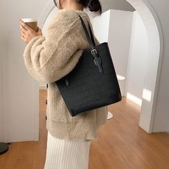 Bleckker - Plain Faux Leather Handbag