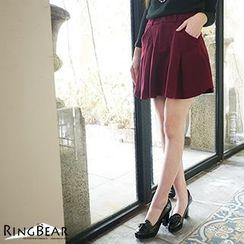RingBear - Woolen A-Line Skirt