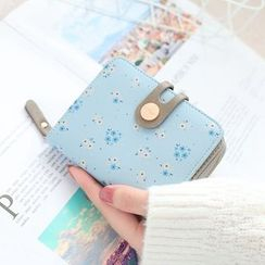 NICOLEBONNIE(ニコルボニー) - Floral Print Buttoned Card Wallet
