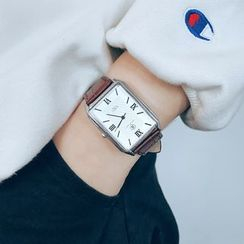InShop Watches - Rectangle Dial Strap Watch