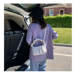 Nautilus Bags - Faux Leather Ruched Shoulder Bag